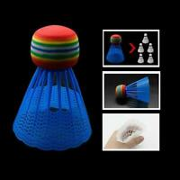 10 bunte Shuttlecocks Federball Badmintonball Sport (Kunststoff) Training C4Q0