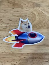 1 Dogecoin Rocket Sticker Crypto Sticker Crypto Doge Bitcoin 420