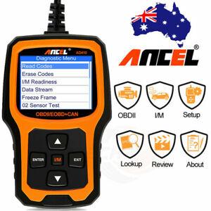 Ancel AD410 OBDII Car Code Reader Check Engine Light Scanner I/M Readiness Diag