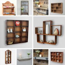 Wall Mounted Storage Cabinet Shelf Wood Metal Distressed Storage Unit Coat Hooks