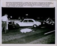 LG851 1980 Original Photo CAR ACCIDENT BODY COVERED Woburn MA Crash Site Scene