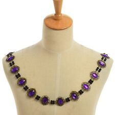 Mens Cosplay Purple Necklace SCA Tudor Elizabethan Livery Chain Collar Of Office
