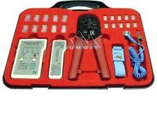 Aspen Ethernet Cable Tester Kit with RJ45 RJ11 RJ12 Crimper Tool CAT5e CAT6 Test
