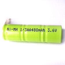 2x 1/3 AA 1 / 3AA 2A 3,6 V 480mah Ni-MH Batteria ricaricabile con scheda VERDE