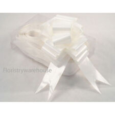 Florists Pull Bows by Oasis 5cm Box of 20 Wedding White