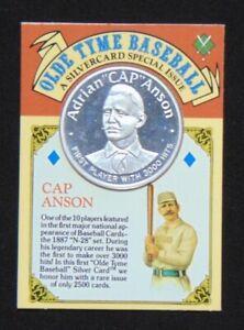 ADRIAN CAP ANSON .999 FINE SILVER COIN 1992 MONEY COMPANY CARD & ROUND 1/2500