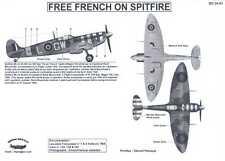 Berna Decals 1/24 FREE FRENCH SUPERMARINE SPITFIRE Mk.Vb Fighter