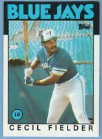 Cecil Fielder Rookie 1986 Topps #386 RC Toronto Blue Jays Detroit Tigers
