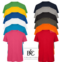 B&C MEN'S T-SHIRT 100% ORGANIC COTTON TOP T-SHIRT CREW NECK CASUAL STYLE S-3XL