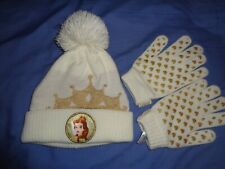 Belle Disney princess hat and gloves set 8-12 years brand new
