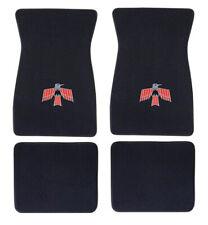 NEW! 1967 - 1973 Pontiac Firebird Floor Mats 4pc Set Black Carpet Bird Logo