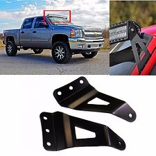 """50"""" Curve Led Light Bar Top Roof Upper Windshield Mount Bracket for Chevy GMC XL"""