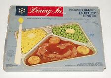 1950's DINING IN Beef TV DINNER BOX  vintage frozen food