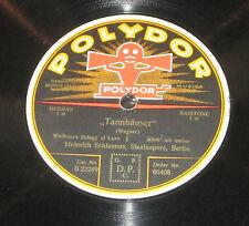 78rpm/Polydor 66408/WAGNER/TANNHÄUSER/HEINRICH SCHLUSNUS