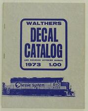 Vintage Paper WALTHERS DECAL CATALOG Railroad Lettering Manual 1973 Train Book