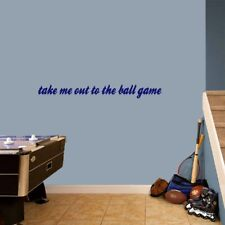 Take Me Out To The Ball Game Wall Decal - Sports, Nursery, Kids, Man Cave, Decor