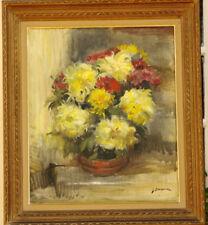 Tableau Bouquet de Fleurs vers 1950 Dargouy