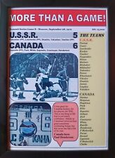 More details for ussr 5 canada 6 - 1972 ice hockey summit series - moscow - framed print
