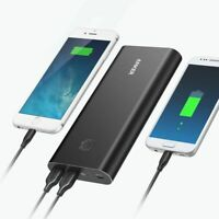 Anker - PowerCore+ 26800 mAh Portable Charger for Most USB Devices - Black