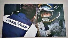 Poster Formula 1 Ronnie Peterson su Lotus 76 1974 50x28cm Perfetto