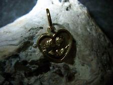 schöner-Schutz-Engel-Schutzbefohlene–Anhänger- Herz -Form 585 er G-Gold