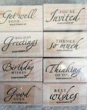 Stampin' Up Sincere Salutations Set of 8 Stamps