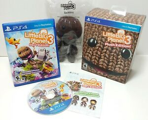 LittleBigPlanet 3 Plush Edition (Sony PlayStation 4, 2014) Includes Sackboy PS4