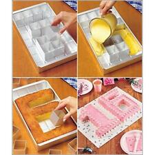 DIY Alphabet Letter Number Tin Pan Cake Decor Aluminum Alloy Pan Baking Mold