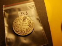 Canada 1912 25 Cent Silver Coin Id#j56.