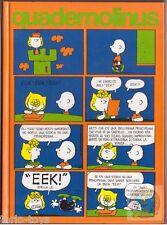 PEANUTS Snoopy 80s Italy notebook school rigid cover - quaderno cop rigida 02