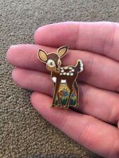 """/ Brooch 1 1/4"""" Taiwan (Jd) Vintage Aviva Metal Bambi Deer Pin"""