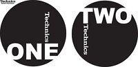 Technics 60606 Paar Antirutschmatte One-Two Logo Schwarz/Weiß Original / Neu