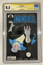 Invincible 5 CGC SS 8.5 - Signed By Kirkman and Walker - First Allen The Alien