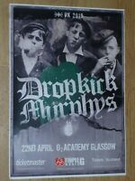 Dropkick Murphys - Glasgow april 2019 live music show tour concert gig poster
