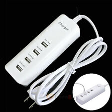 5A 4 Port USB Wall Charger Power Adaptor for Phone Tablet iPhone Samsung US PLUG
