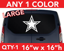 """DALLAS COWBOYS """"STAR"""" ONLY WALL AUTO DECAL STICKER 16""""w x 16""""h ANY 1 COLOR"""