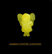 Genuine 100% Natural Baltic Amber LITTLE ANGEL Carving- RRP1295!!!-OT6437