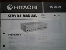 HITACHI HA-2500 Stereo Amplifier Service manual wiring parts workshop diagram