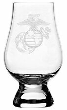 Military Themed Etched Glencairn Crystal Whisky Glass