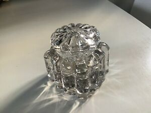 Vintage Glass Inkwell With Glass Lid