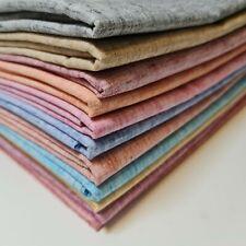 Melange Linen Look Khadi Soft Plain Dress Craft Curtains Fabric Material 112cm