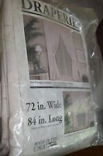 Vintage Pair Made in Usa Drapes 72 by 84 Style Richmond Color Rose