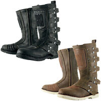 Icon 1000 Elsinore Retro Custom Motorcycle Motorbike Boots | All Colours & Sizes