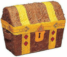 Locked Treasure Chest Pinata for Birthday Fete Party Game