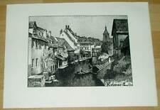 Colmar Kolmar Elsass: alte Ansicht / Druck ca 1920