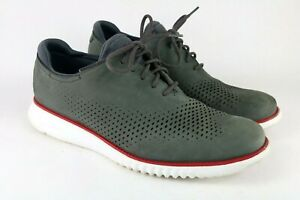 Cole Haan Mens Grand OS 2.0 Dress Casual Oxford Shoes Size US 10 M Grey