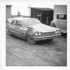 CAR WRECK 1960s AUTO ACCIDENT CHEVROLET ? SALVAGE YARD FENDER TRUNK VTG PHOTO