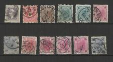 AUTRICHE 12 timbres oblitérés anciens / T2519