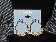 earrings hoops cluster pearls gray beads Simply Vera Wang Nwt $18 women's