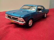 Maisto  1966 Chevrolet Chevelle  SS  396 1/26 scale  new no box blue exterior